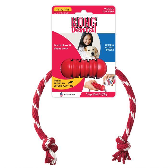 Kong Dental with floss rope - dog dental health